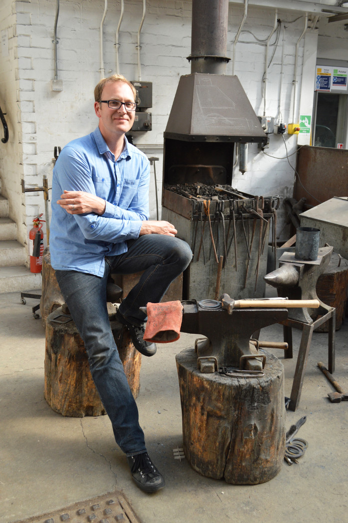Grant in the workshop
